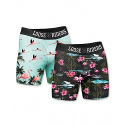 Boxerky Loose Riders Flamingos