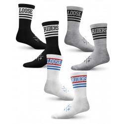 Ponožky Loose Riders Pack Heritage SET 3ks